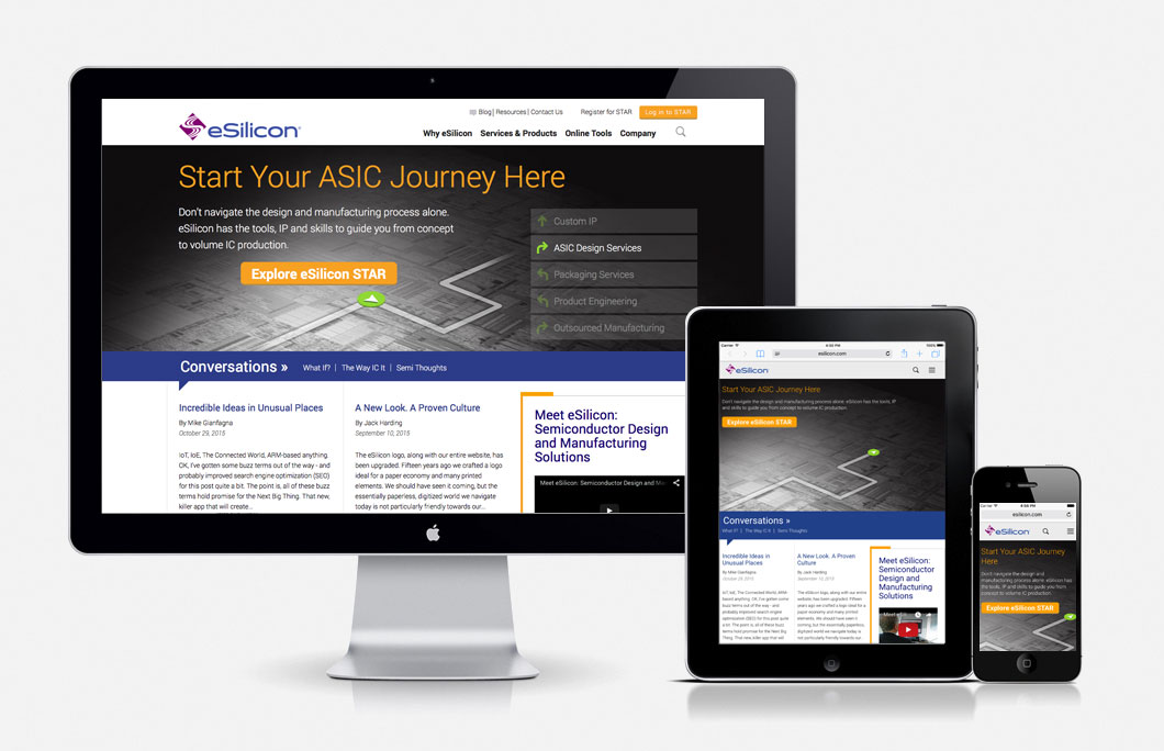 responsive website design for eSilicon